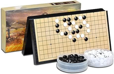 Colección de juegos Juego de juego Go Juego de juego magnético Go - Convenientes piedras magnéticas convexas individuales - Preparado para viajar Diseño de tabla plegable portátil para niños y adu: Amazon.es: