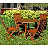 Cheap International Caravan VF-4130-IC Furniture Piece Acacia Stow Away Dining Set