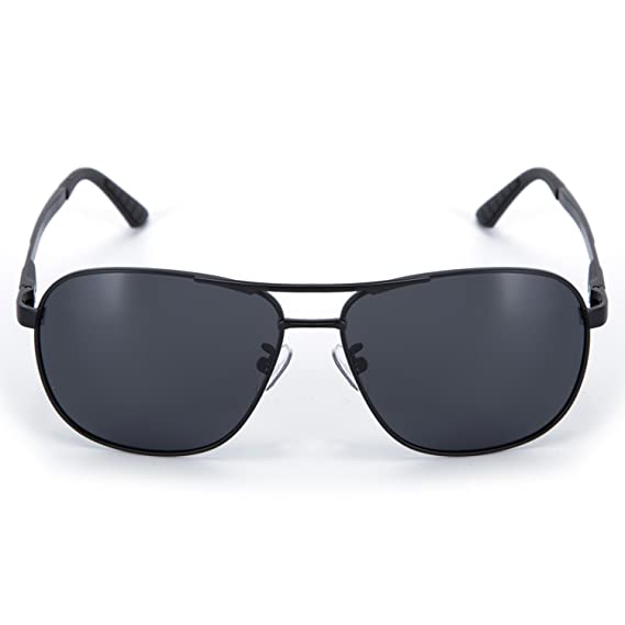 1b4306f5812 Amazon.com  YJMILL 2018 New Men Best Polarized Sunglasses Glass Riding  Fishing Sport 8046 (Black-Gray