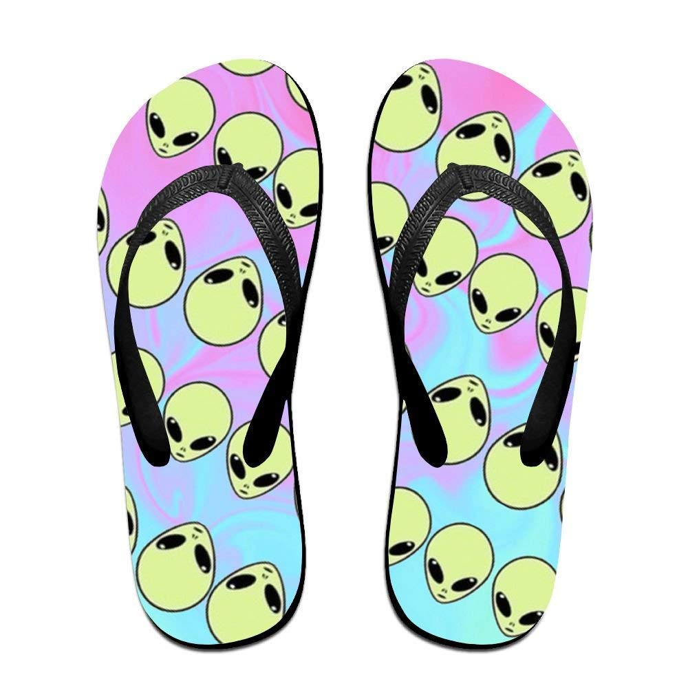 Flip Fl Alien Head Unisex Trendy Print ippers Beach Sanl
