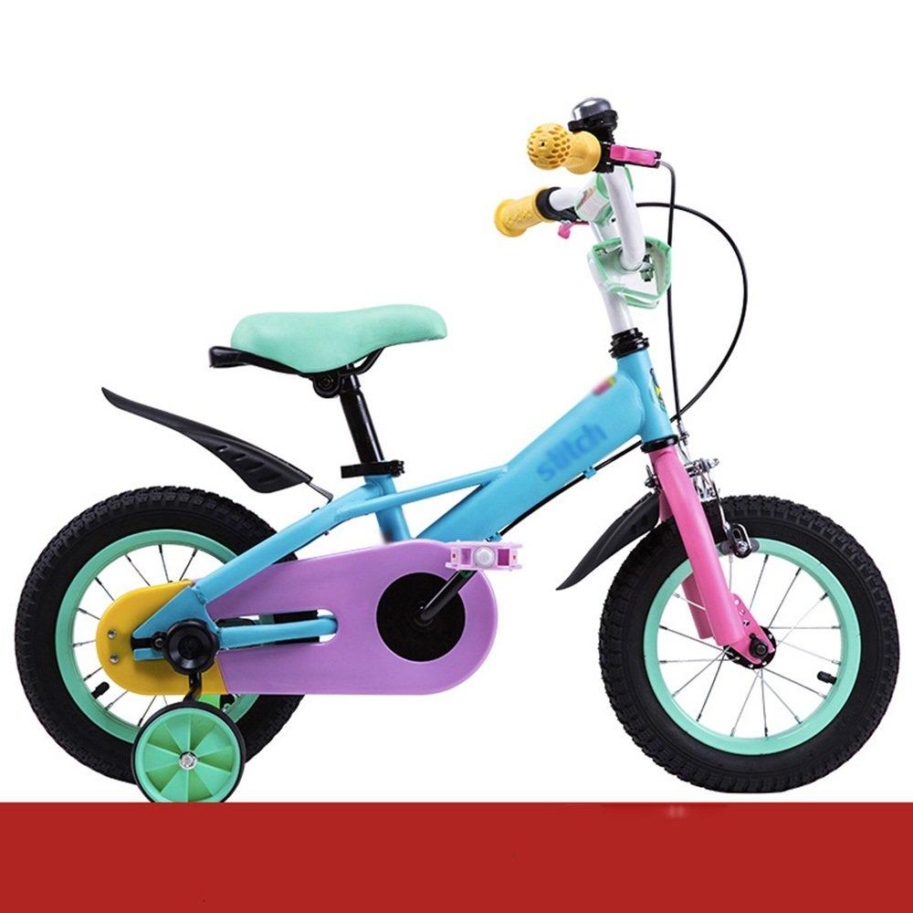 HAIZHEN マウンテンバイク 子供用自転車 トレーニングホイール付きの少年の自転車と少女の自転車 12インチ、14インチ、16インチ、18インチ 子供用ギフト 新生児 B07CCJWPYB14 inch