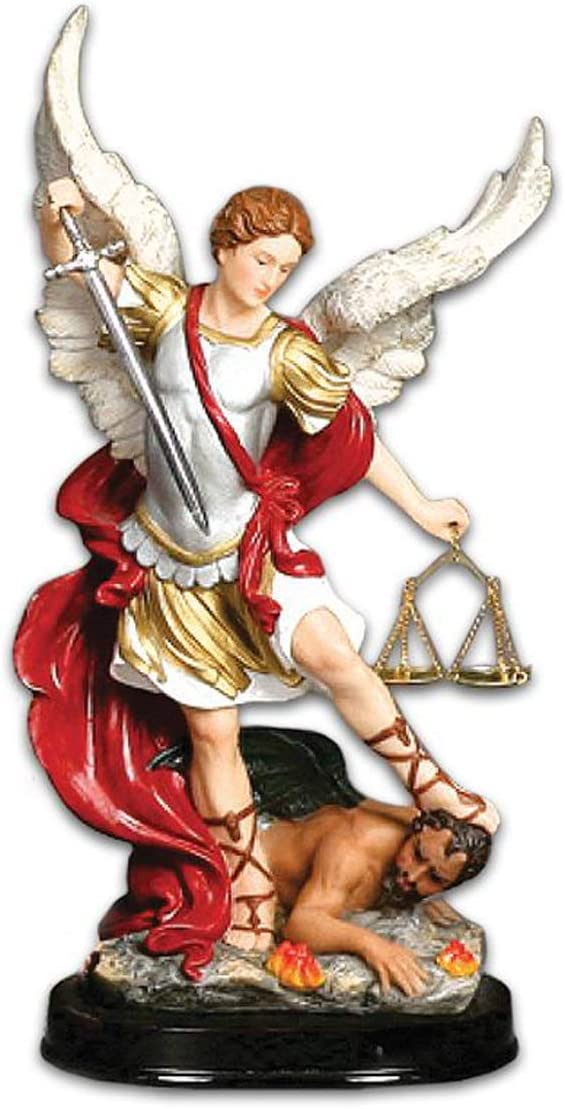 Gigi s Classy Kids Archangel Michael San Miguel Statue Figurine Figure Religious Saint Angel 18 Inches
