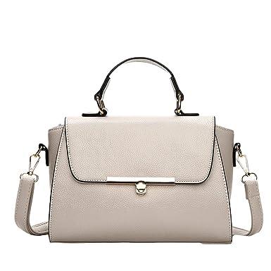 Damen Handtasche Elegante Cover-Typ Schulter Messenger Bag,Pink-OneSize GKKXUE