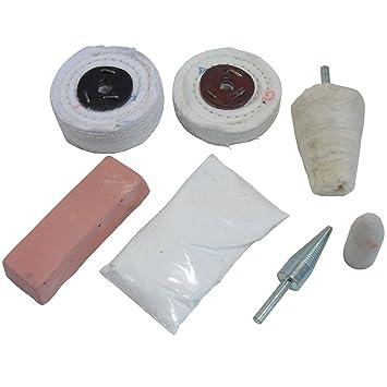 AB Tools Llanta de Aluminio Pulido pc Kit 8 Ruedas de Aluminio Pulido mopas/Kit POL07: Amazon.es: Coche y moto