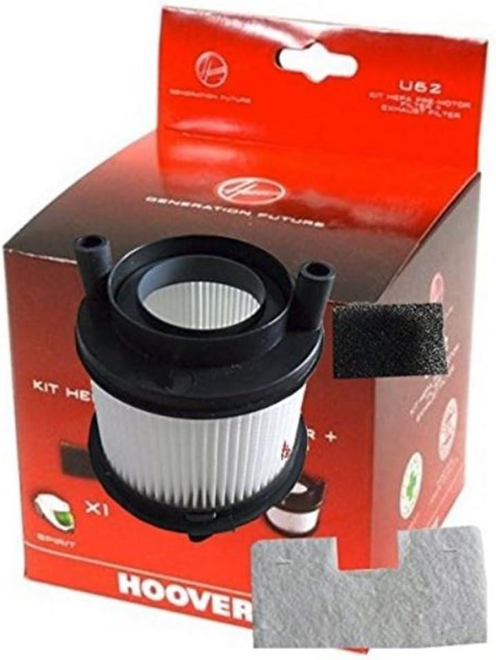 Candy-Kit di filtro per aspirapolvere Hoover 35601182 parte originale numero U62
