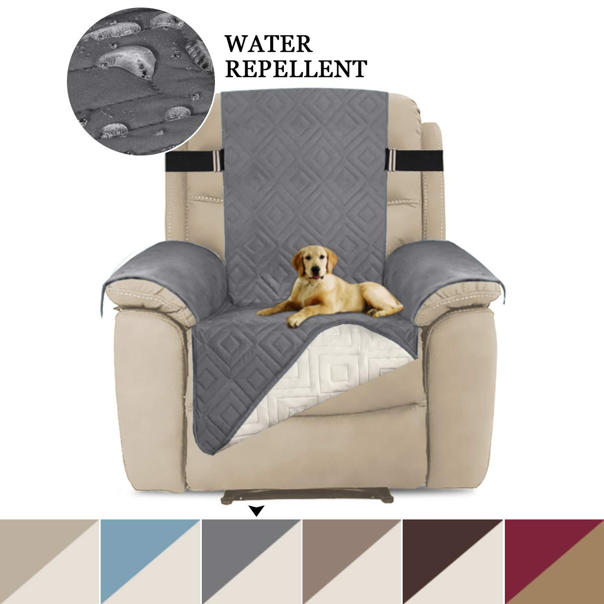 Miraculous Turquoize Quilted Reversible Furniture Cover Elastic Straps Recliner Sofa Protector For Living Room Machine Washable Dryer Safe Double Diamond Machost Co Dining Chair Design Ideas Machostcouk