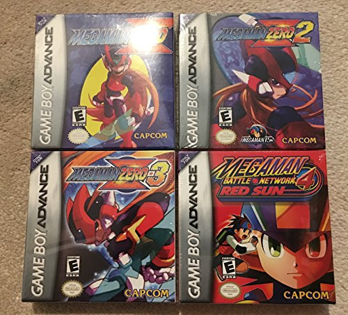 Mega Man Zero Bundle of the first 3 games for GBA + MMBN4 Red Sun