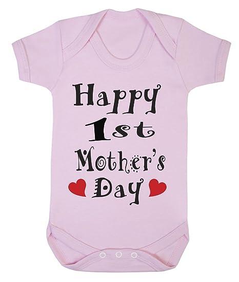 Diseño con texto en inglés 1st el día de las madres infantil, pijama para bebé