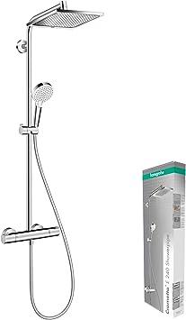 Hansgrohe 27271000 Crometta E 240 Sistema de ducha, 2 tipos de ...