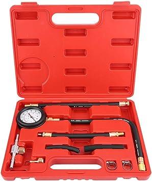 0-100PSI Fuel Injection Pressure Gauge Kit TU-113 Petrol Diesel Fuel Pressure Gauge Tester Gas Gasoline Oil Pressure Diagnostic Tool