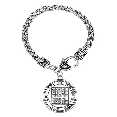 f20f6d121a30b Amazon.com: Talisman of Saturn 2nd and 7th Pentacle Pewter Power ...