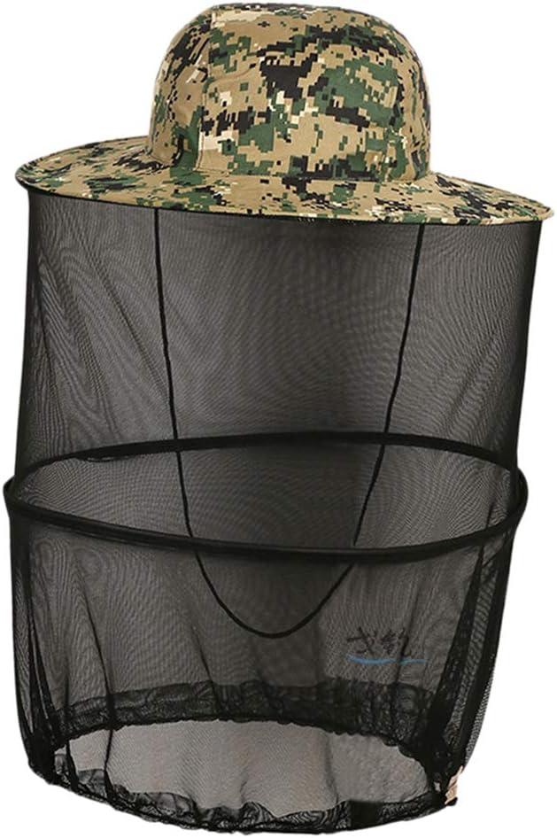 T TOOYFUL Einstellbare Fischernetz Hut Anti Moskito Mesh Cap Gesichtsschutz Schleier Cap