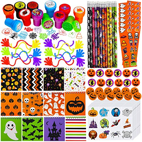 Halloween Friendly Letter (Supla 96 Pack Halloween Stationery Toy Assortment Halloween Prizes Rewards Bulk for Kids Halloween Party Favors School Classroom Rewards Prizes Trick or Treat Goodie Bags Halloween)