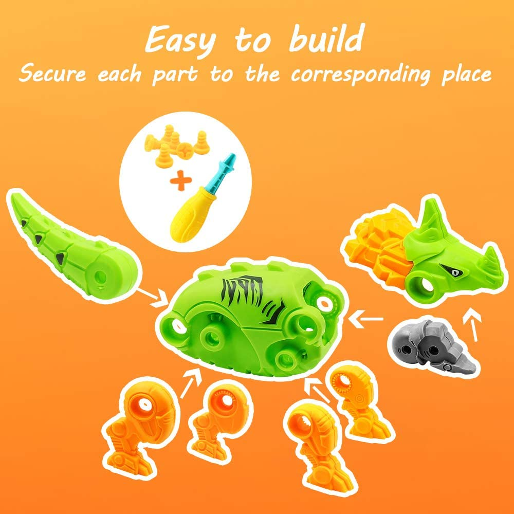 AceList Dinosaur Toys Take Apart Toys for Kids Building Toy Set Colorful Dino Egg with Screwdriver Tool Construction Engineering Play Kit Stem Toys for Boys /& Girls Age 3-12 Years Old