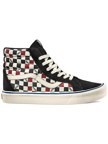 vans sk8-hi classic suede/canvas sneakers alti unisex-adulto