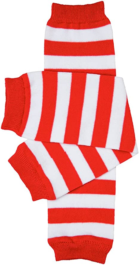 Multi Character Red And White Striped Kids Shirt