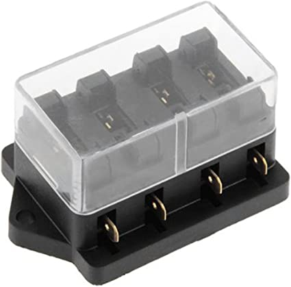 Amazon.com: 12V 4Way Circuit Boat Auto Blade Fuse Box Block Holder Safety  Automotive Portable Mini Car: Car ElectronicsAmazon.com