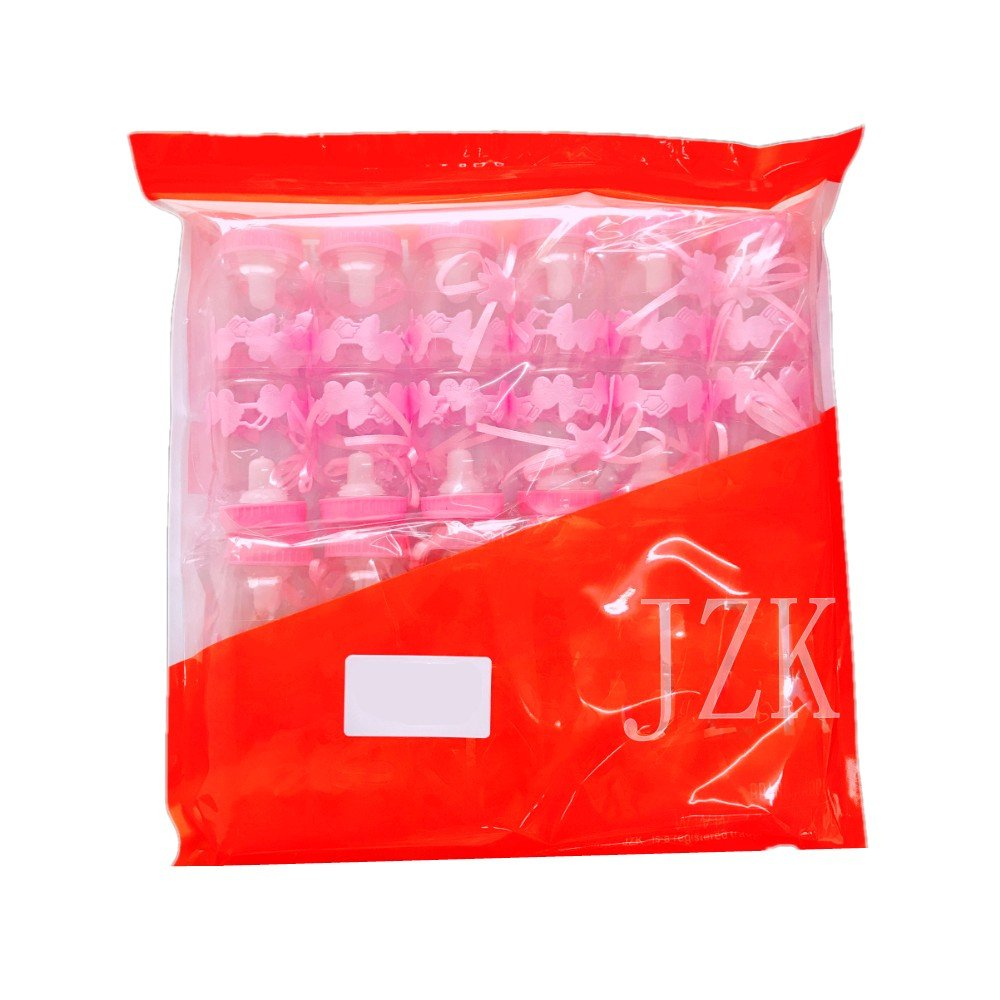 JZK 24 Rosa botella botellas cajas dulces porta dulces confeti regalo para nacimiento bautizo bautismo cumplea/ños fiesta bienvenida beb/é sagrada comuni/ón beb/é ni/ña