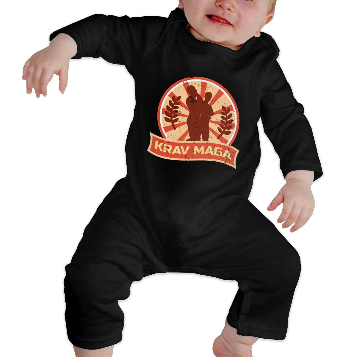 Gsaa Krav MAGA Self Defense Baby Long Sleeve Bodysuit Cotton Romper