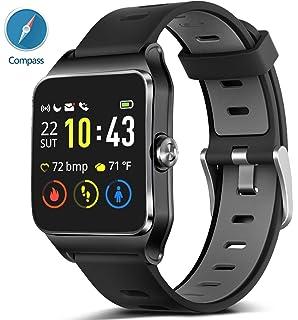 Amazon.com: GPS Running Smart Watch, IP68 Waterproof Fitness ...