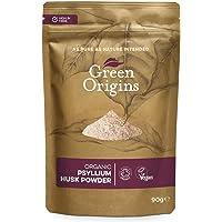 Green Origins Organic Raw Psyllium Husk Powder (99% Pure) 90g