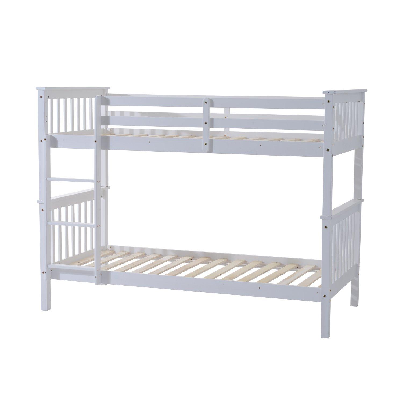 Homcom 3Ft Single Wooden Bunk Bed Frame Only Adult Children