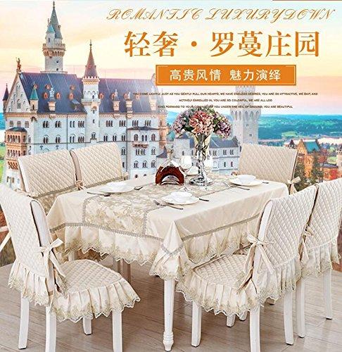 Upscale Esstisch Tuch, Tischdecken, Tischdecken, Polsterbez¨¹ge Anzug Continental Esstisch,110160CM Roman Manor - beige