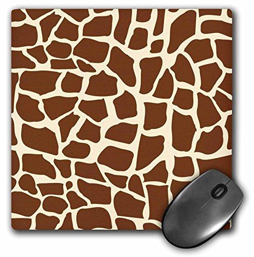 Animal Patterns Print (3dRose LLC 8 x 8 x 0.25 Inches Mouse Pad, Giraffe Skin Graphic Animal Print Pattern, Brown and Yellow, African Safari, Modern Stylish (mp_155617_1))