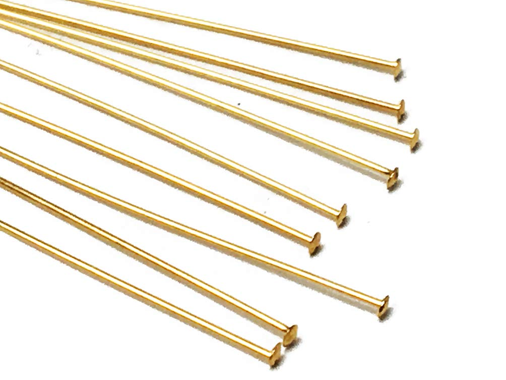 26 Gauge 25 Choose Package Size 1.5 Inch 14K Gold Filled Headpin
