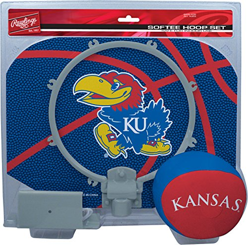 Rawlings NCAA Kansas Jayhawks Kids Slam Dunk Hoop Set, Blue, Small