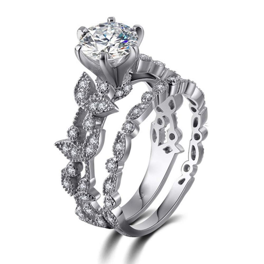 Amazon Wensltd Clearance Anniversary Promise Wedding Band Engagement Ring Bridal Sets Love 6 Silver3 Sports Outdoors: Bridal Wedding Ring Sets Clearance At Websimilar.org