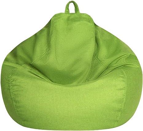 Copridivano per poltrona a sacco per divano pigro senza riempimento verde-S per adulti e bambini