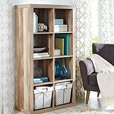 Better Homes and Gardens 8-Cube Organizer Creates Multiple Storage Solutions Horizontal or Vertical Display (Weathered, 8-Cube) - Versatile Creates multiple storage solutions Horizontal or vertical display that features an 8-cube bookcase, available in multiple finishes - living-room-furniture, living-room, bookcases-bookshelves - 61D97CZEzgL. SS400  -