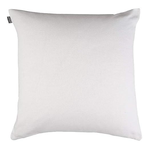 Funda de cojín de Lino, algodón, Color Blanco, 60 x 60 x 1 ...