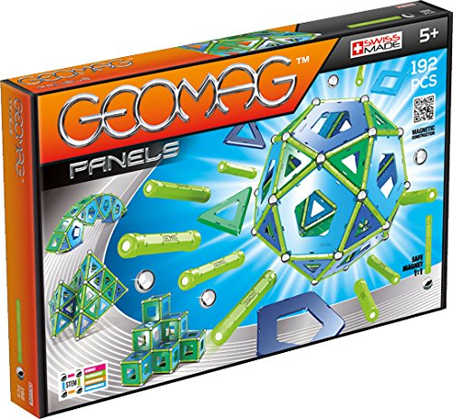 - Geomag - PANELS - 192-Piece Magnetic Building Set, Certified STEM Construction Toy, Safe for Ages 5 and Up