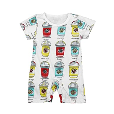 a3efbe95a Amazon.com  Kehen Baby Pajamas Infant Newborn Boy Girl Cotton Home ...