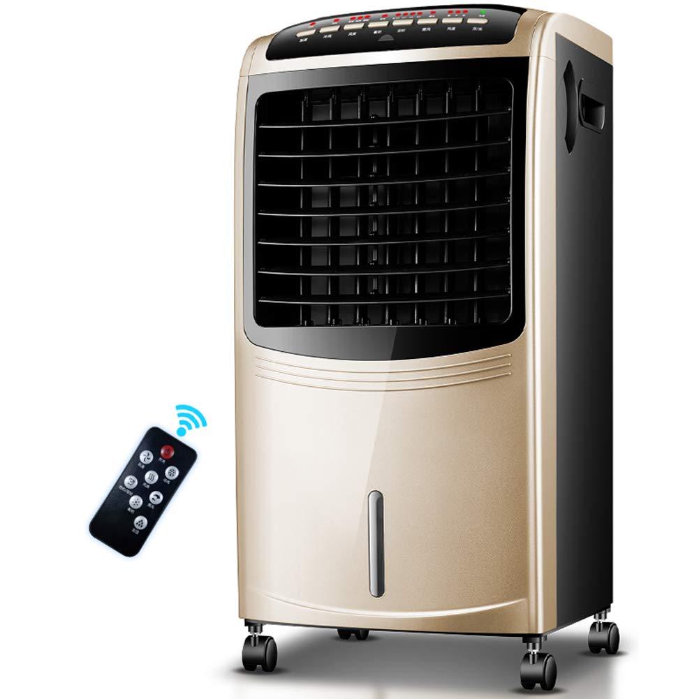シングルコールドリモコンエアコンクーラー家庭用小型エアコンファンサイクル冷房加湿寝室空気清浄機ユニバーサルキャスター B07TTLGDD4  Remote control