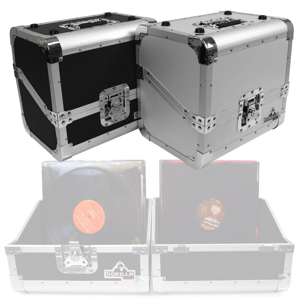 Gorilla gc-dj80s 80x 30, 5cm vinyl record Storage box valigetta 50/50stile (argento) Gorilla Cases