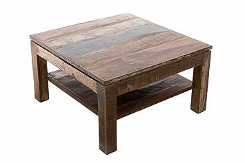 Clp Holz Couchtisch Sona 80x80 Cm Höhe 46 Cm Teakholz Recycelt