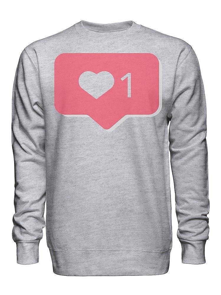 Notification Love Symbol Unisex Crew Neck Sweatshirt