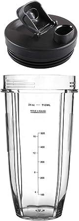 Wadoy - Vaso mezclador con tapa de repuesto para licuadora Nutri ...