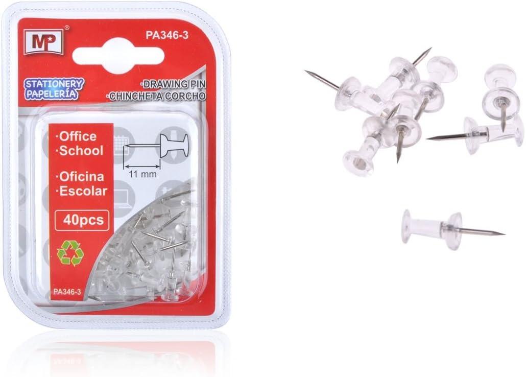 Pack de 40 chinchetas de cabeza translucida MP PA346-3