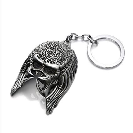 Littrasss AVP Aliens Vs Predator Requiem Keychain ,2.7x1.5 Inches Wolf Predator Durable Bright Sliver Keyring
