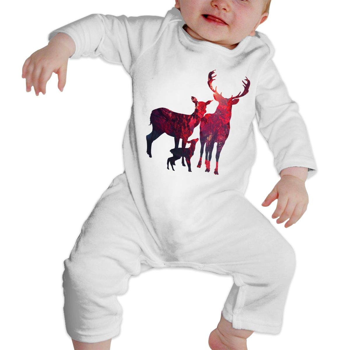 Baby Boy Long Sleeve Jumpsuit Deer Family Baby Clothes