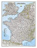National Geographic: France, Belgium, and The Netherlands Classic Wall Map - Laminated (23.5 x 30.25 inches) (National Geographic Reference Map)