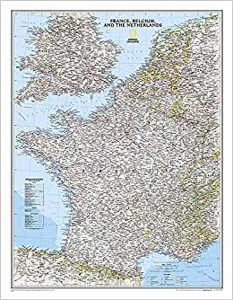 national geographic france belgium and the netherlands classic wall map laminated 235 x 3025 inches national geographic reference map national
