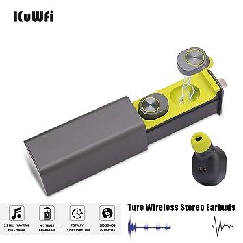 Auriculares inalámbricos Bluetooth Mini Auriculares Auriculares Verdaderos auriculares inalámbricos que incluyen micrófono y estuche de carga, ...
