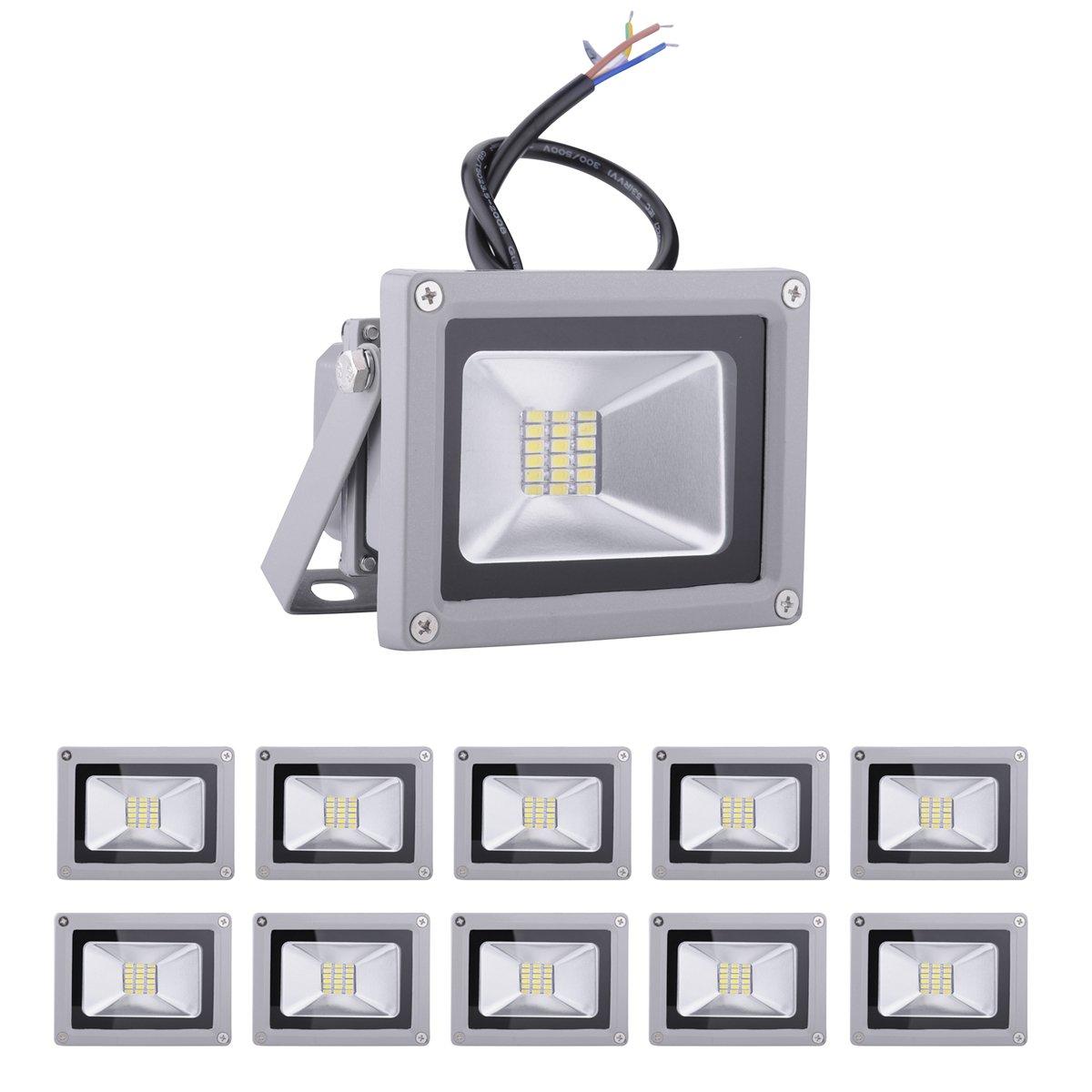 Rondaful】10x 20W LED Fluter Aussenstrahler SMD Wandstrahler Spots ...