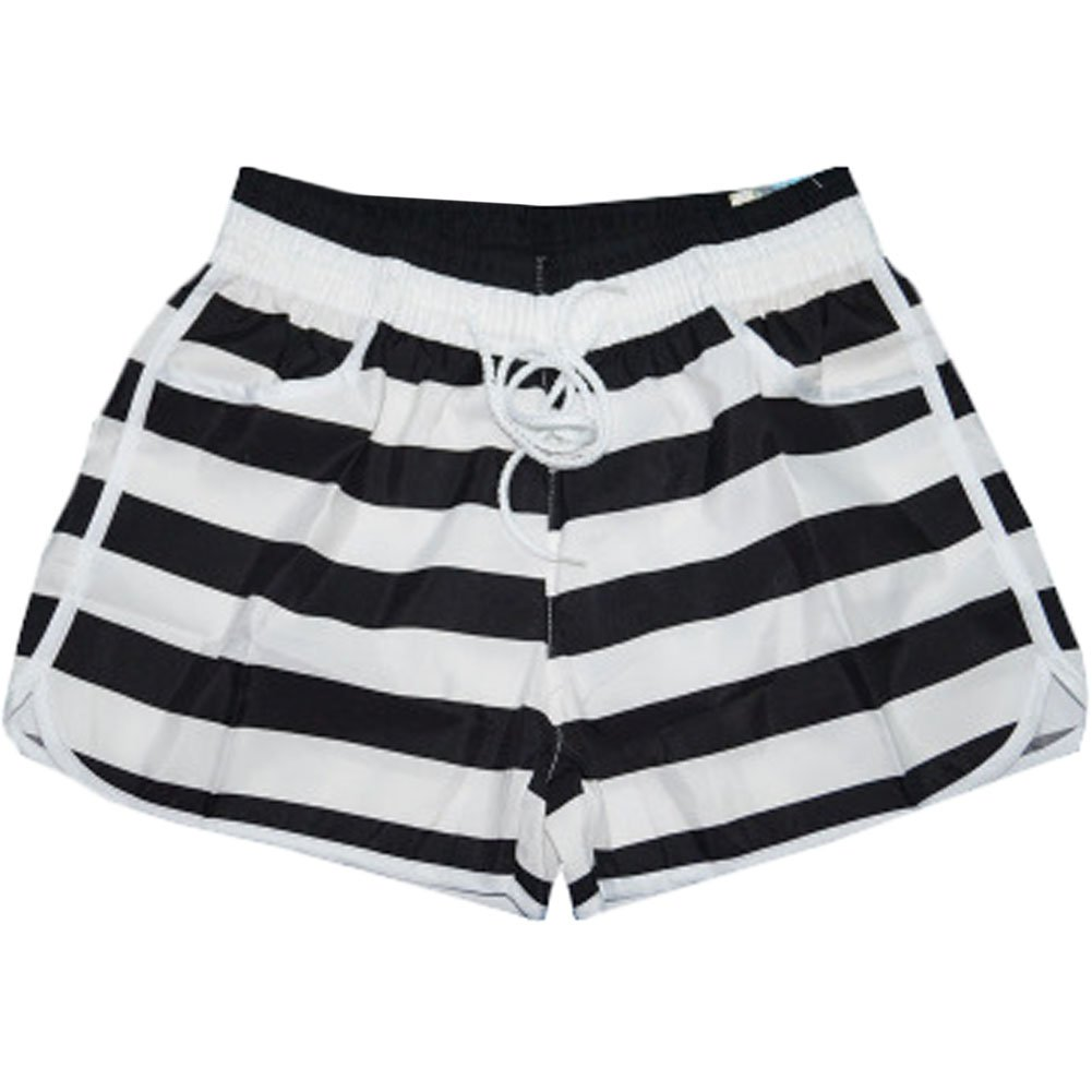 Black& white Stripes Beach Pants Sport Shorts Quick-drying Loose Hot Pants BT-CLO1288633011-MC01033