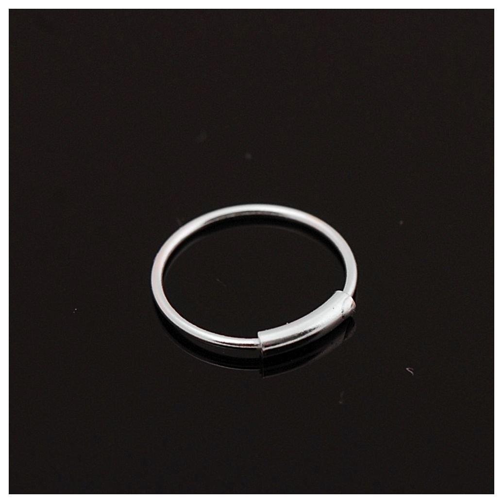 ZENN STONE 925 Sterling Silver Hinged Clicker Seamless Piercing Nose Ring Hoop Lip Ear Ring-7mm